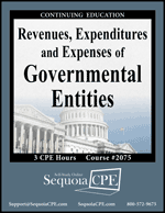 Revenues, Expenditures and Expenses of Governmental Entities