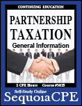 Course# 3025: Partnership Taxation General Information