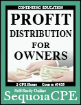 Course# 3035: Profit Distribution for Owners