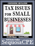 Course# 3070: Tax Issues for Small Businesses